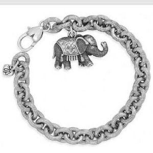 Brighton Elphy Elephant Silver Plated Bracelet